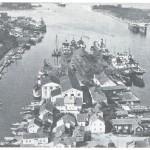 """Bilde av Langesund Mek Verksted tatt rundt 1930. Kilde: """"Fra skipsverft til offshoreverksted"""", Grenland Offshore."""